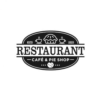 Restaurant logo eten drinken product met lepel en vork element brood taart