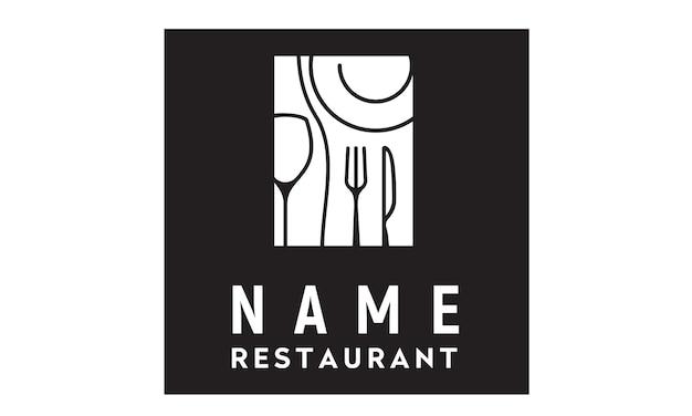 Restaurant logo ontwerp inspiratie