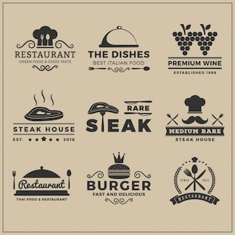 Restaurant logo templates-collectie