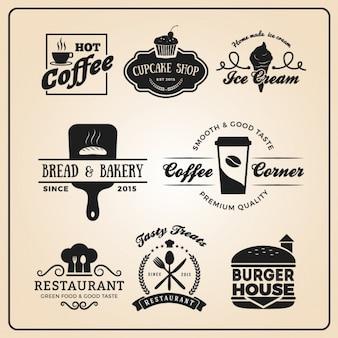Restaurant logo templates-collectie