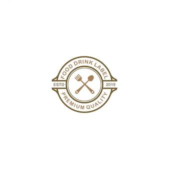 Restaurant logo - voedsel en drank product
