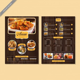 Restaurant menu boek