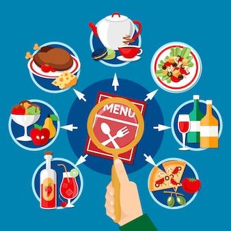 Restaurant menu illustratie