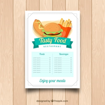 Restaurant menu, lekker eten
