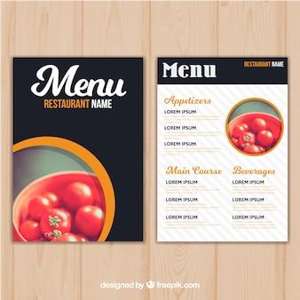 Restaurant menu sjabloon