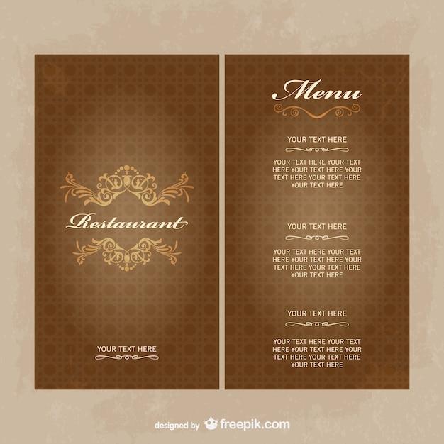Restaurant menu vector gratis te downloaden