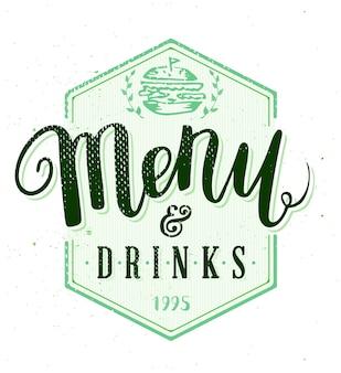 Restaurant menulabel