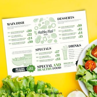 Restaurant menusjabloon met foto