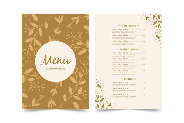 Restaurant menusjabloon