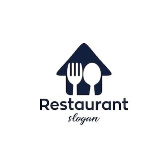 Restaurant modern en eenvoudig logo ontwerp
