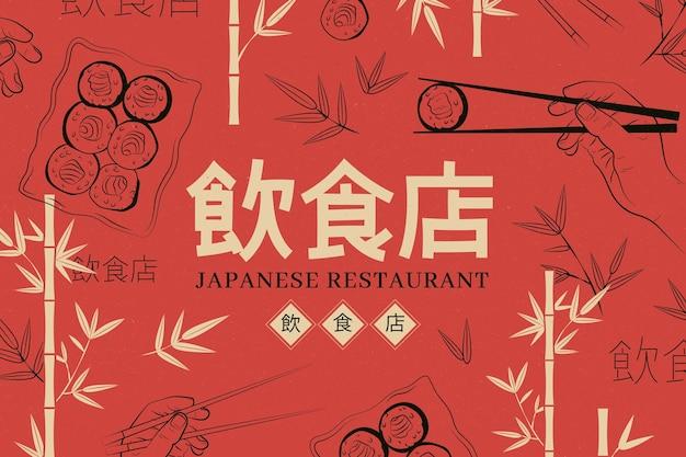 Restaurant muurschildering behang