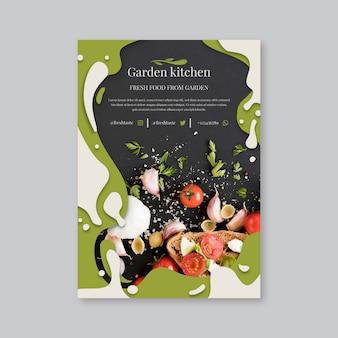 Restaurant poster sjabloon met gezond voedsel