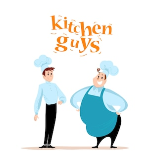 . . restaurant service mensen portretten op witte achtergrond. voedsel team karakters. ober, kok, man in uniform portret.