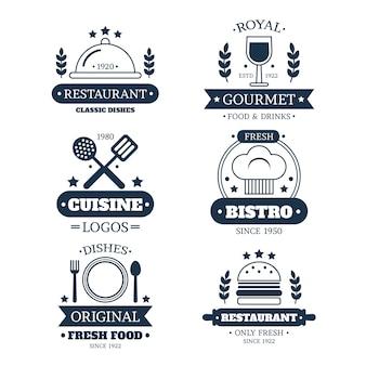 Restaurant vintage logo collectie
