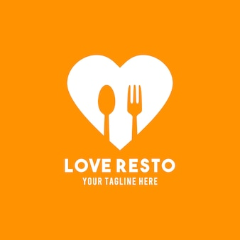 Restaurant vlakke stijl ontwerp symbool logo illustratie sjabloon
