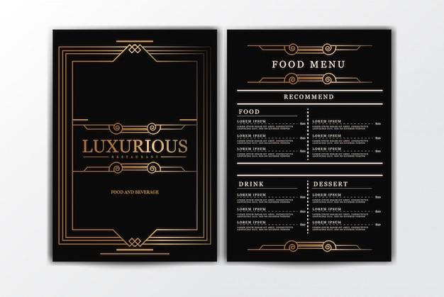 Restaurant voedsel menusjabloon