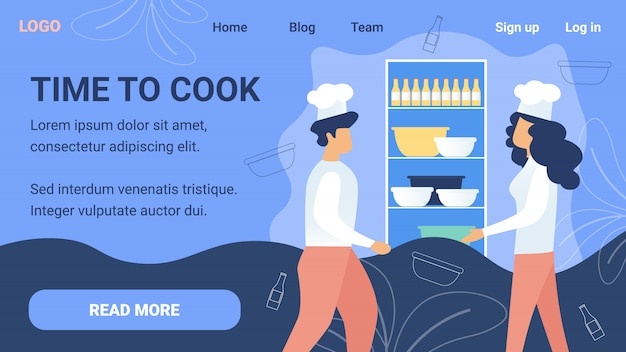 Restaurant, website voor online koken