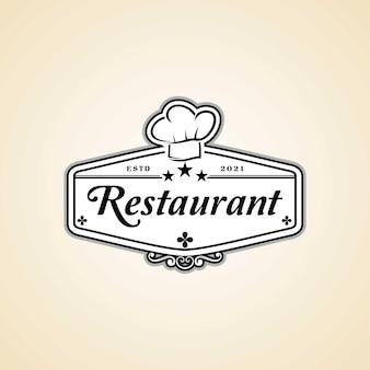 Restaurantlogo met koksmuts