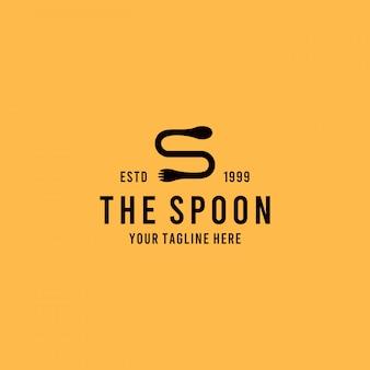 Restaurantlogo met minimalistische creatieve stijl