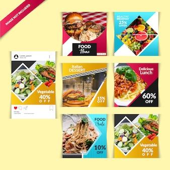 Restaurantpost voor sociale media