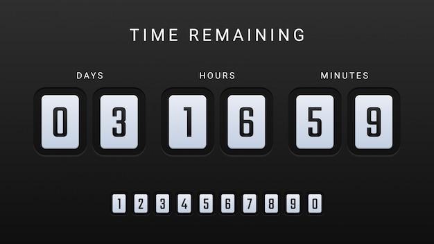 Resterende tijdafbeelding met countdown-klokteller