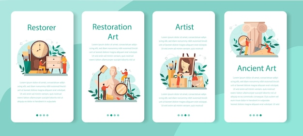 Restorer mobiele applicatie-bannerset