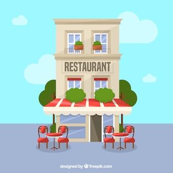Resturant gebouw achtergrond