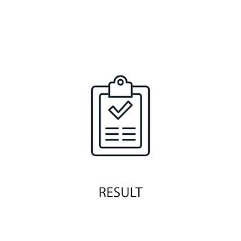 Resultaat concept lijn icoon. eenvoudige elementenillustratie. resultaat concept schets symbool ontwerp. kan worden gebruikt voor web- en mobiele ui/ux