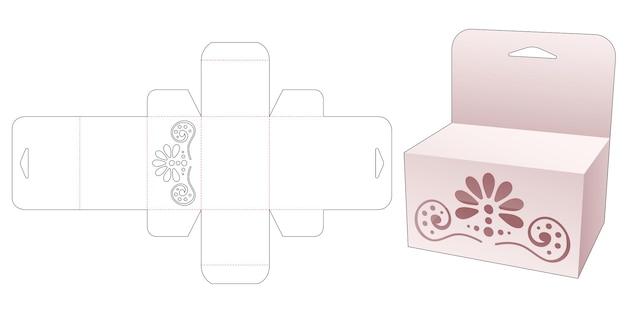 Retailverpakking met stenciled mandala gestanst sjabloon die