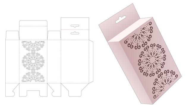 Retial box met gestencilde mandala en hanggat gestanst sjabloon