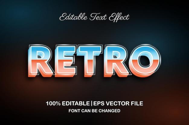 Retro 3d bewerkbaar teksteffect