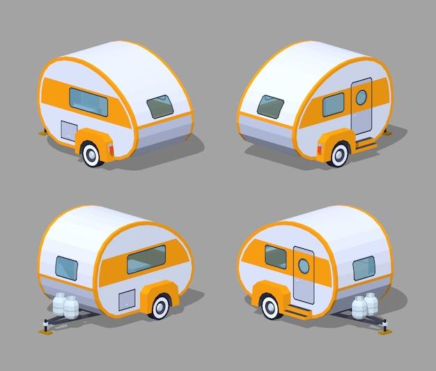 Retro 3d isometrische camper