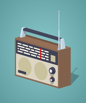 Retro 3d isometrische radio set