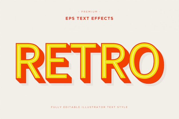 Retro 3d teksteffect