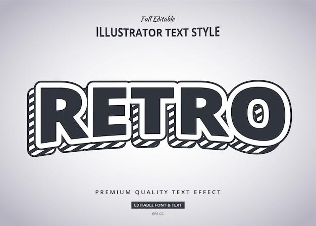 Retro 3d-tekststijleffect