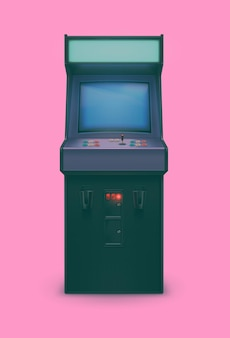 Retro 80s realistische arcade-machine