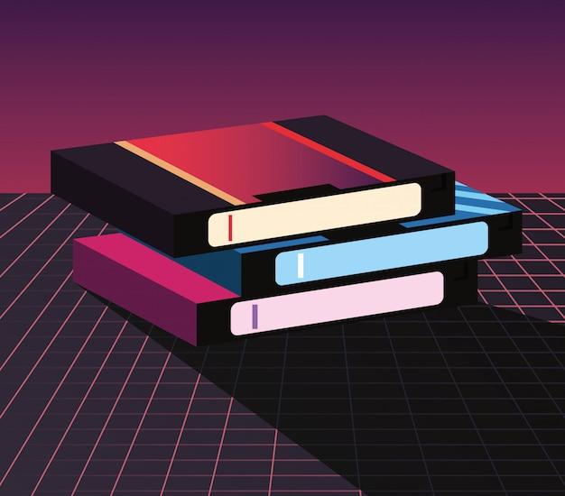 Retro 80s stijl