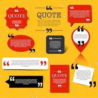 Retro aanhalingsteken tekstballon, citaat blok ontwerpelement