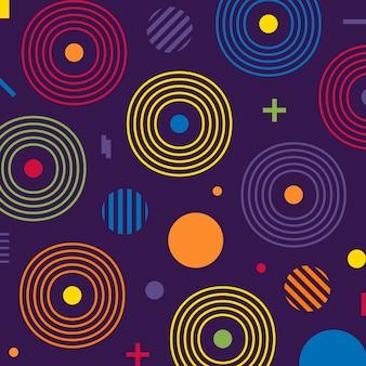 Retro abstract geometrisch naadloos patroon.