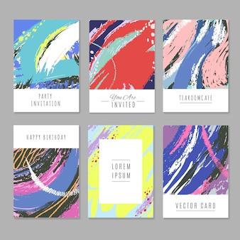 Retro abstracte achtergronden met textuur in minimalismstijl voor vakantie verpakking en prints