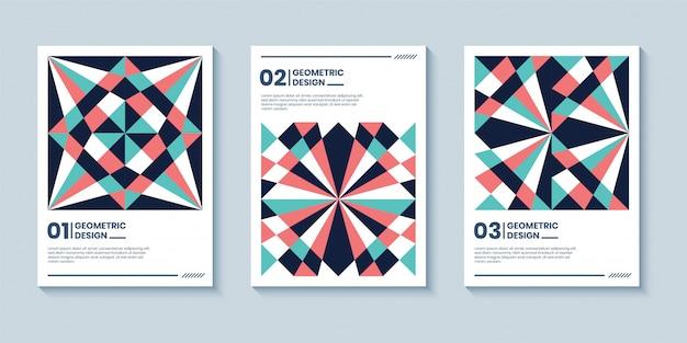 Retro abstracte geometrische voorbladsjabloon.