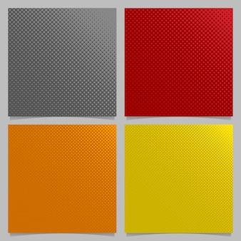Retro abstracte halftone dot patroon achtergrond set - vierkante brochure grafische ontwerpen uit cirkels in verschillende maten