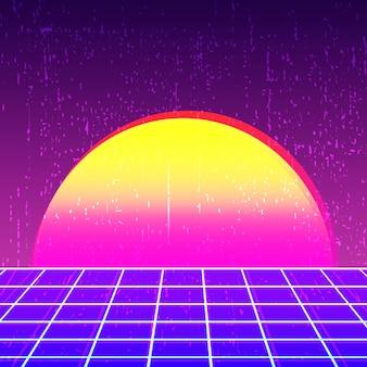 Retro achtergrond 80s ontwerp