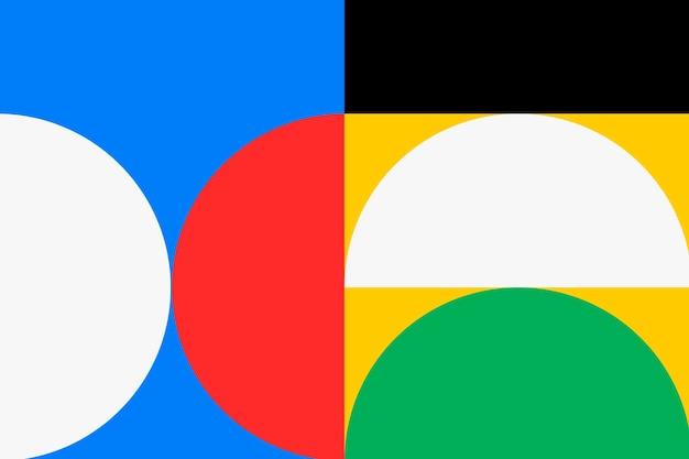 Retro achtergrond bauhaus behang, kleurrijke primaire kleur vector