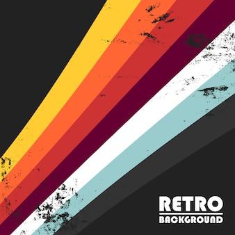 Retro achtergrond met kleurrijke strepen