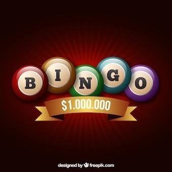 Retro achtergrond van bingo ballen