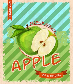 Retro affiche van apple