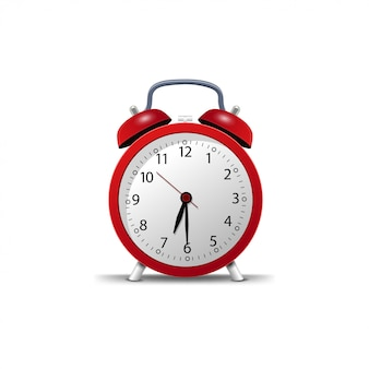 Retro alarm klok geïsoleerd