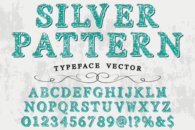 Retro alfabet ontwerp zilver