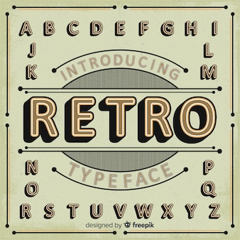 Retro alfabet